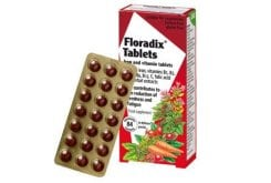 Power Health Floradix Tablets with Iron and Vitamins C & B, 84 tabs