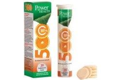 """Εικόνα του """"Power Health Vitamin C 500mg Αναβράζουσα Βιταμίνη C με Γεύση Πορτοκάλι, 20 eff. tabs """""""