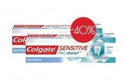Colgate Sensitive Pro-Relief Whitening ΠΑΚΕΤΟ ΠΡΟΣΦΟΡΑΣ Λευκαντική Οδοντόκρεμα για τα Ευαίσθητα Δόντια, 2 x 75ml
