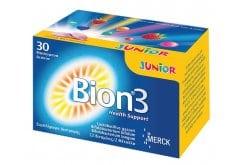Merck Bion 3 Junior 30 Μασώμενα Δισκία Συμπλήρωμα Διατροφής Για Παιδιά Άνω Των 4 Ετών