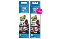 2 x Oral B Stages Power Star Wars (1+1) Ανταλλακτικά Παιδικής Ηλεκτρικής Οδοντόβουρτσας, 2 x 2 τεμάχια