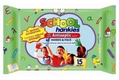 """Εικόνα του """"School Hankies (babylino) Αντισυπτικά Υγρά Μαντηλάκια, 15 τεμάχια"""""""