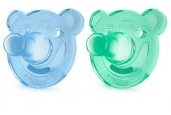 Philips Avent Soothie Shapes Soother 0-3m+ (Green & Blue), 2pcs