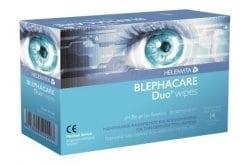 Helenvita Blephacare Duo Wipes Μαντηλάκια Καθαρισμού & Απολύμανσης για την Περιοχή των Ματιών, 14 wipes