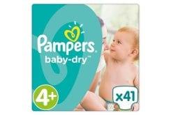 """Εικόνα του """"Pampers Baby Dry Maxi Plus No. 4 + (9-18 kg) Βρεφικές Πάνες, 41 τμχ """""""