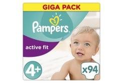 """Εικόνα του """"Pampers Active Fit Maxi Plus No. 4 + (9-18 kg) Giga Pack - ΜΟΝΟ ΜΕ 0,38 ΑΝΑ ΠΑΝΑ ! - Βρεφικές Πάνες, 94 τμχ """""""