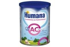 Humana AC Βρεφικό Γάλα 0m+ για τους Κολικούς & τη Δυσκοιλιότητα, 350gr