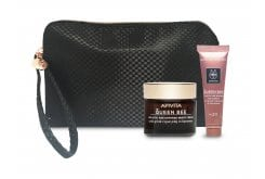 Apivita Queen Bee PROMO with Holistic Age Defense Night Cream, 50ml & GIFT Holistic Age Defense Day Cream SPF 20, 15ml in practical beauty bag.