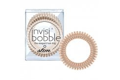Invisibobble SLIM Λαστιχάκια Μαλλιών για όλες τις ηλικίες, για κάθε στυλ & τύπο μαλλιών, 3 τεμάχια - Bronze Me Pretty