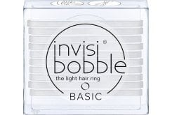 Invisibobble Basic Λαστιχάκια Μαλλιών για όλες τις ηλικίες, για κάθε στυλ & τύπο μαλλιών, 10 τεμάχια - Crystal Clear