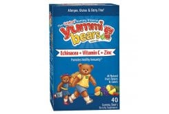 Hero Yummi Bears Echinacea + Vit C & Zinc for Kids, 40 gummies