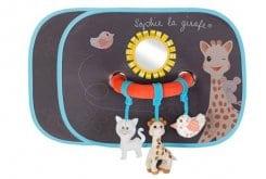 Sophie la Girafe Set of Sun Shades & Activity Arch 470223 Σετ με Ηλιοπροστασίες Αυτοκινήτου, 2 τεμάχια & Τόξο Δραστηριοτήτων, 1 τεμάχιο