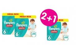 """Εικόνα του """"3 x Pampers Pants Jumbo Pack No.6 (Extra Large) 16+ kg (2+1 ΔΩΡΟ) Βρεφικές Πάνες Βρακάκι, 3 x 88 τεμάχια"""""""