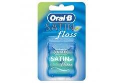 OralB Satin Floss 25m Mint, Μεσοδόντιο οδοντικό νήμα με γεύση μέντας, σχεδιασμένο για να μην σκίζεται και να μην σπάει, 1 τεμάχιο