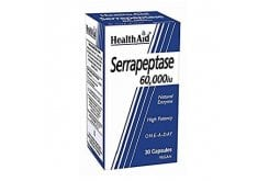 Health Aid Serrapeptase 60.000iu Συμπλήρωμα Σερραπεπτάσης με ευεργετικές ιδιότητες σε Φλεγμονές & Οιδήματα, 30 caps