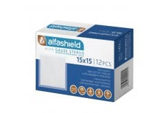 AlphaShield Sterile Gauze 15cm x 15cm, 12pieces