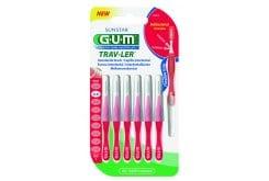 Gum Trav-ler Interdental Brush 1314 Μεσοδόντιο Βουρτσάκι 0,8mm Κόκκινο