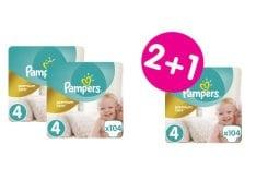 """Εικόνα του """"3 x Pampers Premium Care Mega Pack No.4 (Maxi) 8-14 kg (2+1 ΔΩΡΟ) Βρεφικές Πάνες, 3 x 104 τεμάχια"""""""