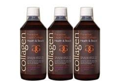 3 x Collagen Pro Active Liquid Collagen γεύση λεμόνι, 3 x 500 ml & ΔΩΡΟ 100 ml Επιπλέον Ποσότητα