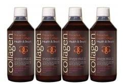 4 x Collagen Pro Active Liquid Collagen Γεύση Φράουλα, 500 ml & ΔΩΡΟ 100 ml Επιπλέον Ποσότητα, 4 x 600 ml