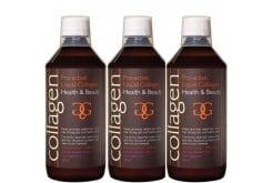 3 x Collagen Pro Active Liquid Collagen Γεύση Φράουλα, 500 ml & ΔΩΡΟ 100 ml Επιπλέον Ποσότητα, 3 x 600 ml