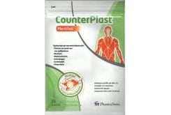 Pharmaswiss Counterplast Menthol έμπλαστρο για πόνους και πιασίματα 2 τεμάχια μεγάλα & 4 τεμάχια μικρά