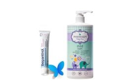 Pharmasept Tol Velvet Baby Mild Bath Παιδικό Αφρόλουτρο για σώμα & μαλλιά,1 lt & ΜΑΖΙ Bepanthol Αλοιφή για Διπλή Προστασία από Συγκάματα στα Μωρά, 100gr