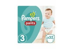 Pampers Pants Value Pack No.3 (Midi) 6-11 kg Βρεφικές Πάνες Βρακάκι, 32 τεμάχια