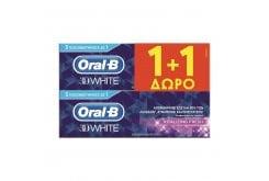 OralB 3D White Vitalizing Fresh Λευκαντική Οδοντόκρεμα (1+1 ΔΩΡΟ), 2 x 75ml
