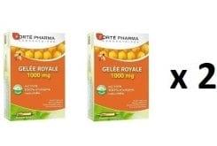 """Εικόνα του """"2 x Forte Pharma Gelee Royale 1000mg, Δυναμωτικό συμπύκνωμα βασιλικού πολτού 1000 mg για την προστασία του οργανισμού, ενσωματώνει όλα τα οφέλη του βασιλικού πολτού σε ένα υγιές, φυσικό και αποτελεσματικό συμπλήρωμα διατροφής, 20amp x 10ml"""""""