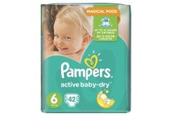 Pampers Active Baby Dry Jumbo Pack No.6 (Extra Large) 15+ kg Βρεφικές Πάνες, 42 τεμάχια