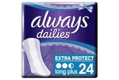 Always Dailies Long Plus Extra Protect Σερβιετάκια για Καθημερινή Χρήση, 24 τεμάχια