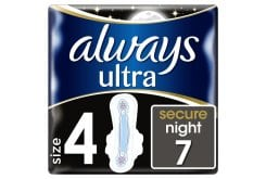 Always Ultra Secure Night Sanitary towels with wings, 7 pcs