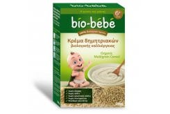 Bio Bebe Κρέμα Δημητριακών Βιολογικής Καλλιέργειας,Μετά τον 6ο μήνα, Χωρίς Ζάχαρη, Αλάτι, Χρωστικές Ουσίες,Συντηρητικά, Ελεύθερο Γλουτένης, 200 gr