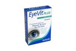 Health Aid EyeVit PLUS, Συνδυασμός από βότανα, βιταμίνες, μέταλλα & ιχνοστοιχεία, που βοηθούν τα μάτια να παραμένουν φωτεινά & υγρά, ιδανικό στην πρόληψη των μαύρων κύκλων & στις σακούλες κάτω από τα μάτια, 30caps