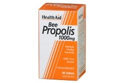 Health Aid Bee Propolis 1000mg, 60 tablets