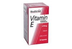 Health Aid VITAMIN E1000 i.u (670mg), 30 κάψουλες