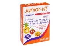 Health Aid JUNIOR VIT Vitamins & Minerals, 30 μασώμενες ταμπλέτες