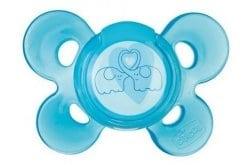 """Εικόνα του """"Chicco Physio Comfort Active Silicone 6-12m+, Πιπίλα σιλικόνης σε εργονομικό σχήμα με μέγιστο χώρο για το πηγούνι και τη μύτη για να διευκολύνει την αναπνοή και τις κινήσεις, & Θήκη που αποστειρώνεται. Χρώμα Μπλε, 1 τμχ"""""""