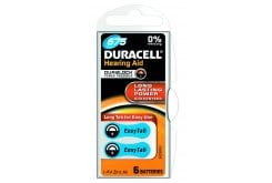 Duracell HEARING AID BATTERY WITH EASYTAB 675, Μπαταρίες για ακουστικά βαρηκοΐας 6τεμάχια