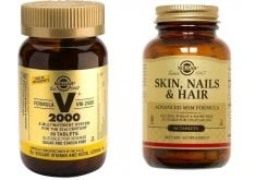 """Εικόνα του """"Προσφορά Πακέτο Solgar Skin, Nails & Hair Formula Προηγμένη διατροφική φόρμουλα για να προάγει την καλή υγεία των μαλλιών, του δέρματος & των νυχιών 60tabs + Solgar Formula VM 2000, Υψηλής ισχύος φόρμουλα απαραίτητων βιταμινών,αμινοξέων,μετάλλων ,60tabs"""""""