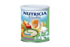 Nutricia Φρουτόκρεμα 5 Φρούτα ΠΡΟΣΦΟΡΑ -0.70€ Βρεφική κρέμα 6m+, 300gr