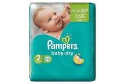 """Εικόνα του """"Pampers Baby Dry Mini No. 2 (3-6kg) Βρεφικές Πάνες, 33 τεμάχια"""""""