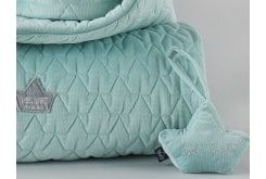 La Millou Baby Crown Audrey Mint Βελούδινη Κουδουνίστρα Κορώνα, 16cm x 12cm, 1 τεμάχιο