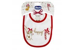 Chicco Xmas Edition Soft bib, 1pc