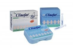 Clinofar ΠΑΚΕΤΟ Ρινικής απόφραξης, με CLINOFAR Ρινικό Αποφρακτήρα για την απομάκρυνση των εκκρίσεων της μύτης του μωρού + CLINOFAR Ανταλλακτικά ρύγχη μιας χρήσεως,12 τμχ + CLINOFAR Αμπούλες μιας χρήσεως, 30 amps x 5ml
