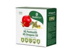 Health Sign Combo με Panhealth Ισχυρή Φόρμουλα Βασισμένη στην Ελιά & το Ρόδι, 30 caps & HS Oregano Oil Συμπλήρωμα Διατροφής από Ριγανέλαιο Αυθεντικής Ελληνικής Ρίγανης, 30 softgels