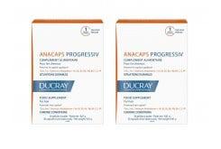2 x Ducray Anacaps Progressiv PROMO -50% στο 2ο ΠΡΟΪΟΝ Συμπλήρωμα Διατροφής κατά της προοδευτικής Τριχόπτωσης, 2 x 30 caps
