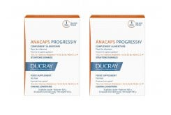 2x Ducray Anacaps Progressiv PROMO -20% food supplement for chronic hairloss, 2x 30 caps