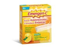 Emergen C Αναβράζουσα Βιταμίνη C 1000mg με Γεύση Λεμόνι, 10 φακελάκια